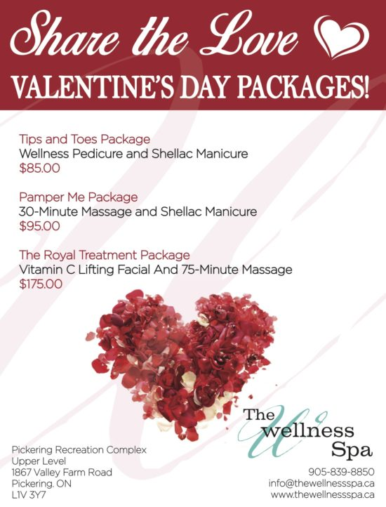 Valentines day spa packages in pickering ontario