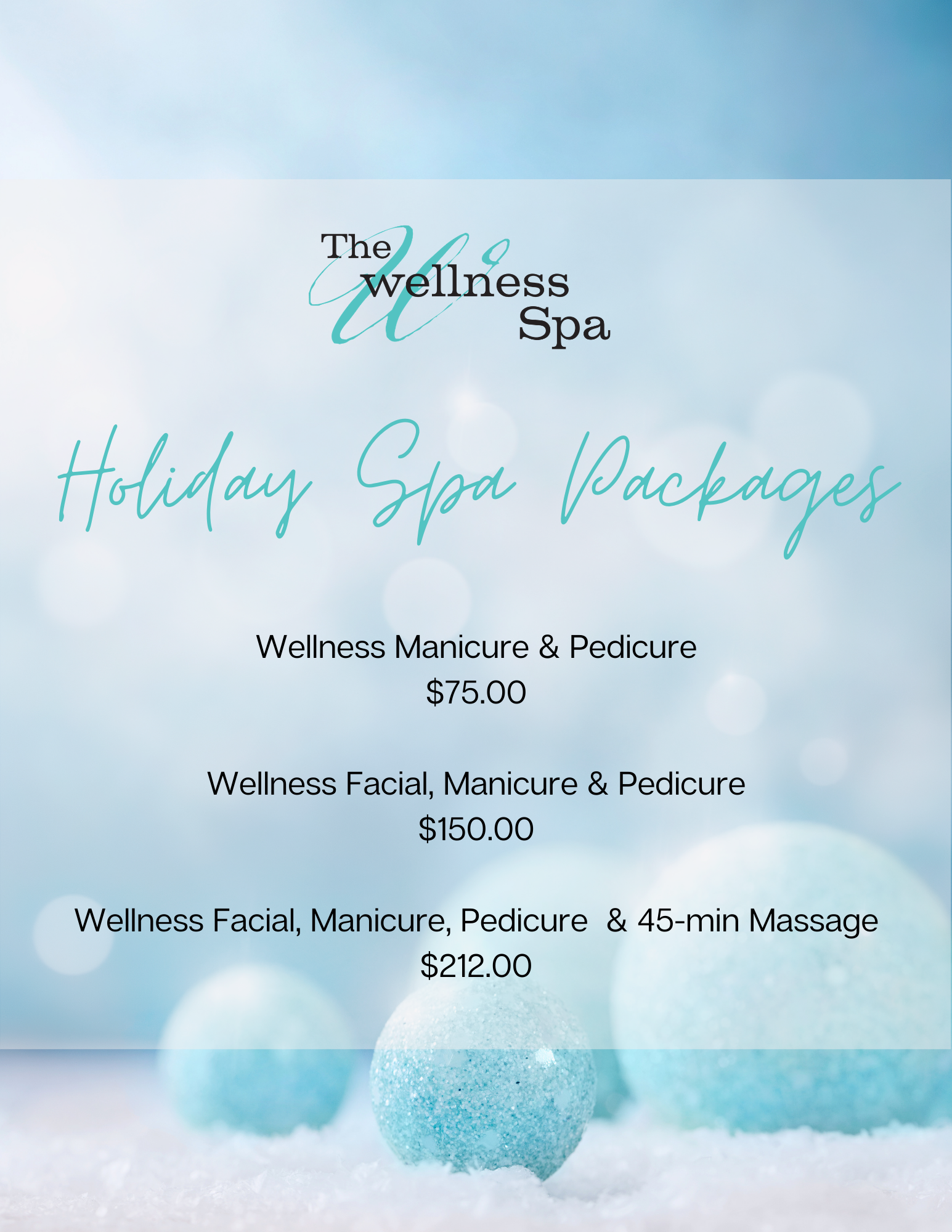 The Wellness Spa Christmas Spa Packages